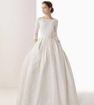 Vestiti da sposa con maniche di pizzo